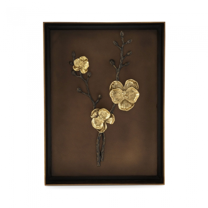 Картины и панно Michael Aram Shadow Box Декоративное панно Gold Orchid Фото №1